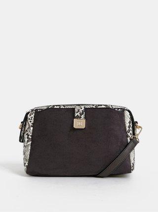 Šedá kabelka v semišové úpravě Bessie London