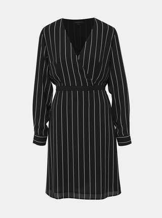 Černé pruhované šaty Selected Femme Daniella