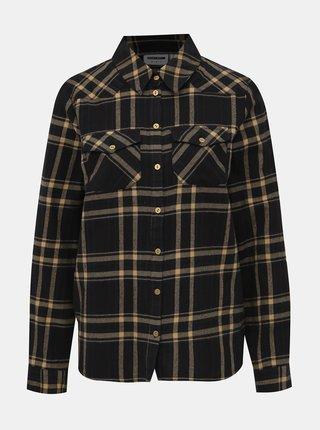 Čierna kockovaná košeľa Noisy May Erik