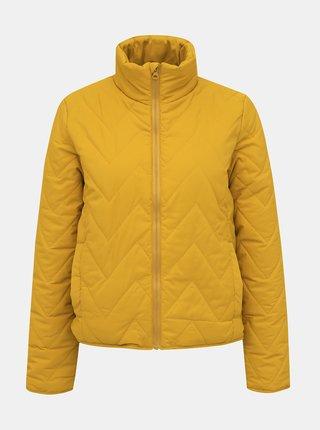 Žltá prešívaná bunda Noisy May Odette