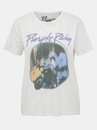 Bílé tričko s potiskem ONLY Prince