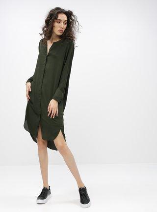 Tmavozelené šaty Selected Femme Dynella