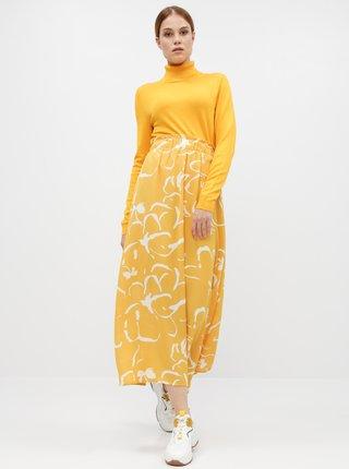 Žltá vzorovaná maxi sukňa VERO MODA Ilona