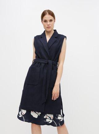 Tmavě modrá dámská dlouhá vesta ZOOT