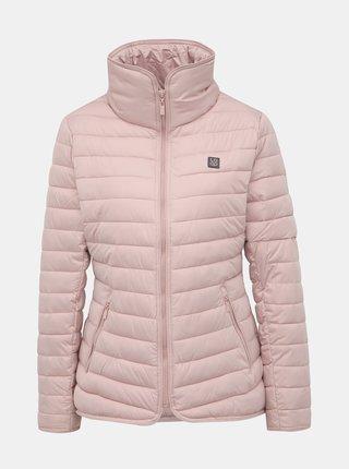 Svetloružová dámska prešívaná vodeodpudivá zimná bunda LOAP Jenni