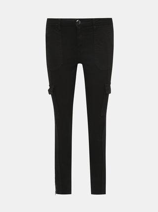 Černé skinny fit zkrácené kalhoty s kapsami Dorothy Perkins Darcy