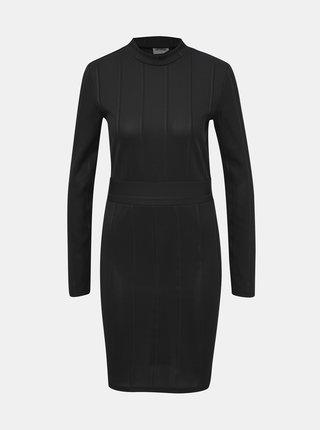 Čierne pruhované šaty Noisy May Artis