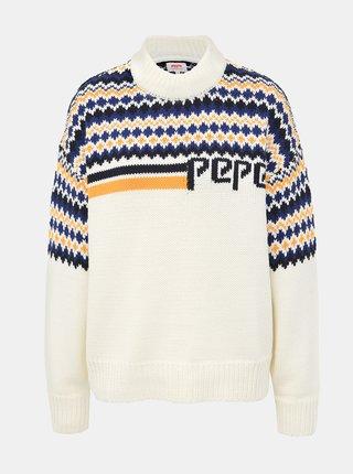 Krémový dámský vzorovaný svetr Pepe Jeans Monikas