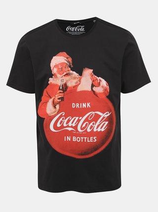 Černé tričko s potiskem ONLY & SONS Coca Cola Xmas