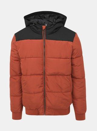 Oranžová prošívaná zimní bunda ONLY & SONS Boston