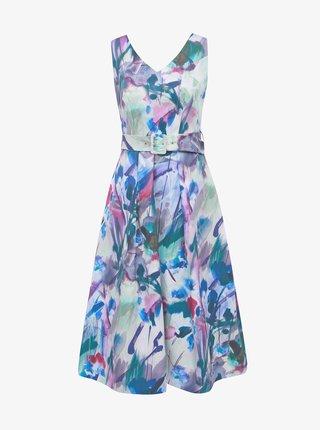 Modro-fialové vzorované šaty Closet