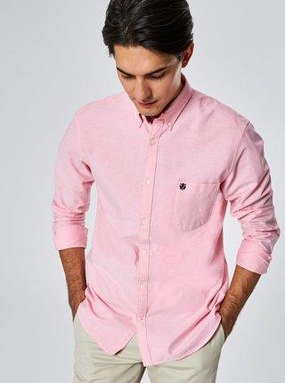 Růžová regular fit košile Selected Homme Collect