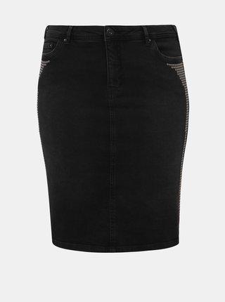 Tmavě šedá džínová pouzdrová sukně Zizzi Minsk