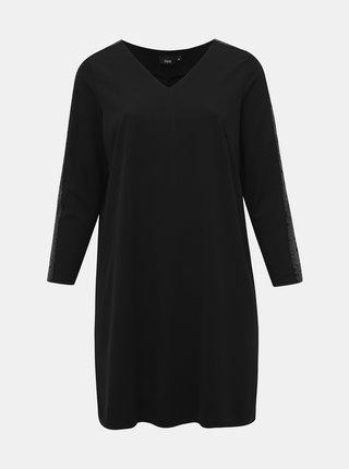 Čierne šaty s flitrami na rukávoch Zizzi My