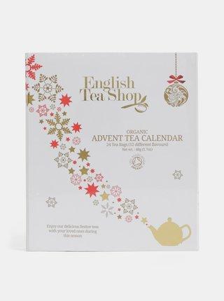 Bílý čajový adventní kalendář English Tea Shop