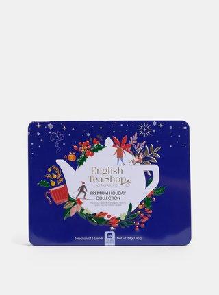 Tmavomodrá vianočná prémiová kolekcia čajov English Tea Shop