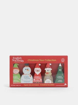 Červená vianočná čajová kolekcie English Tea Shop