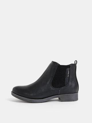 Černé dámské chelsea boty Tom Tailor
