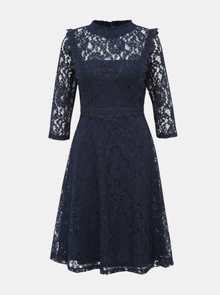 Tmavomodré krajkové šaty Dorothy Perkins