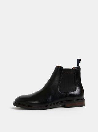 Čierne pánske kožené chelsea topánky GANT Ricardo
