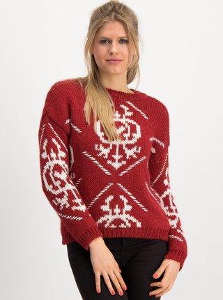 Červený vzorovaný sveter s prímesou vlny Blutsgeschwister Molly Wolly