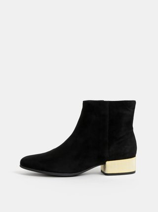 Čierne dámske semišové členkové topánky Geox Peython