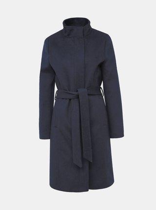 Tmavě modrý vlněný kabát Selected Femme