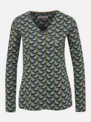 Tmavě zelené vzorované tričko Brakeburn