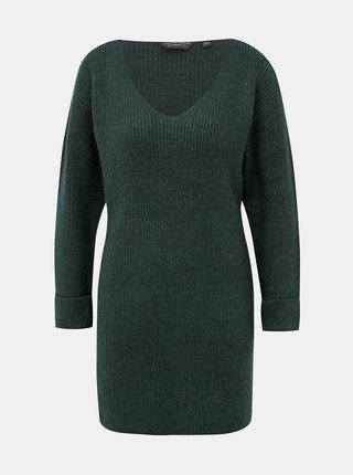 Tmavozelené svetrové šaty Dorothy Perkins