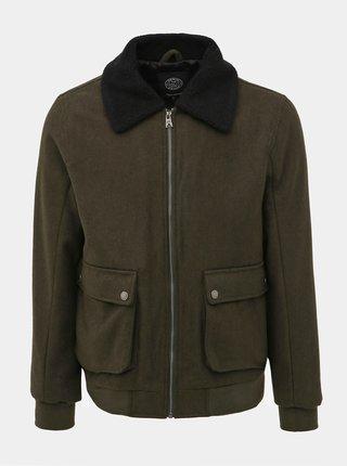 Tmavě zelená bunda s příměsí vlny Shine Original Jorge
