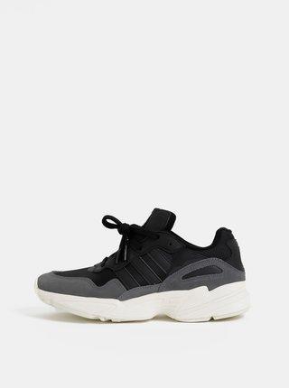Šedo-černé pánské tenisky se semišovými detaily adidas Originals