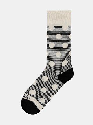 Šedé vzorované ponožky Fusakle Chameleon albín