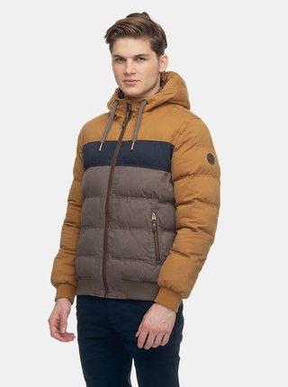 Hnedá pánska zimná prešívaná bunda Ragwear Ector