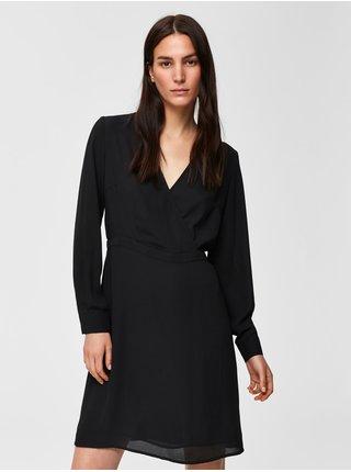 Černé šaty Selected Femme Daniella