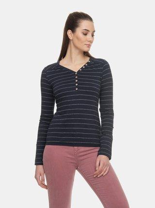 Tmavomodré dámske pruhované tričko Ragwear Pinch
