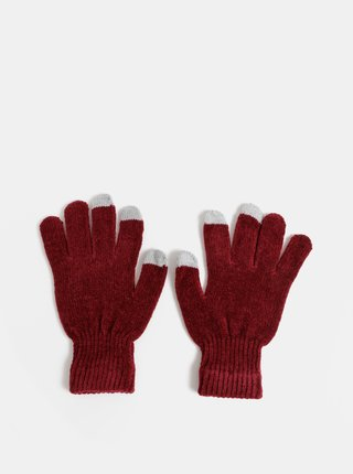 Vínové dámske rukavice Haily´s Sally