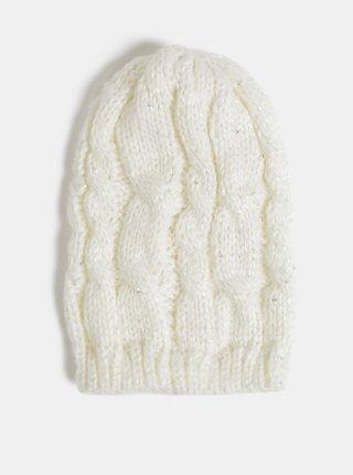 Biela dámska čapica s flitrami Haily´s Marlies