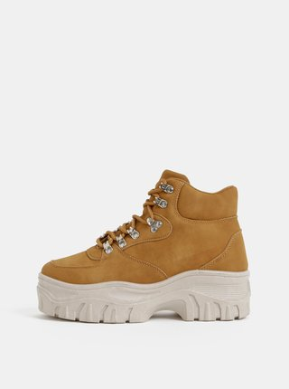 Hnedé dámske zimné kotníkové topánky Haily´s Hazel
