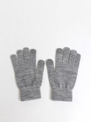 Svetlošedé rukavice Pieces New