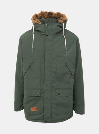 Tmavě zelená pánská funkční zimní bunda Meatfly Rodney