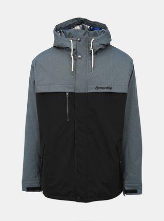 Šedo-černá pánská funkční zimní bunda Meatfly Dandy
