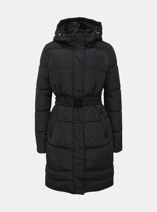 Čierny prešívaný zimný kabát ONLY Tomine