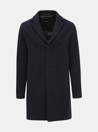 Tmavomodrý vlnený kabát Selected Homme Brove