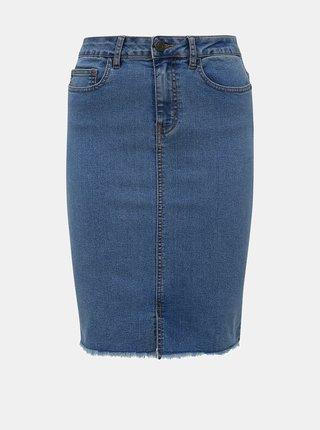 Modrá rifľová púzdrová sukňa Noisy May Lexi