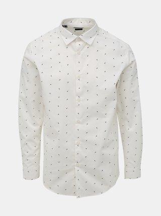 Bílá vzorovaná slim fit košile Selected Homme Slimpen