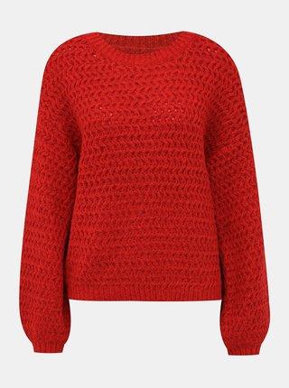 Červený sveter VERO MODA Datte