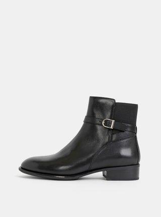 Černé dámské kožené kotníkové boty Vagabond Mira