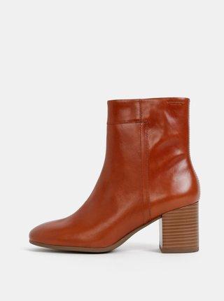 Hnědé dámské kožené kotníkové boty Vagabond Nicole