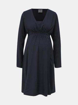 Tmavě modré těhotenské šaty Mama.licious Caya