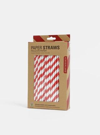 Sada bielo-červených papierových slamiek Kikkerland
